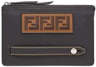 Fendi FF logo patch pouch