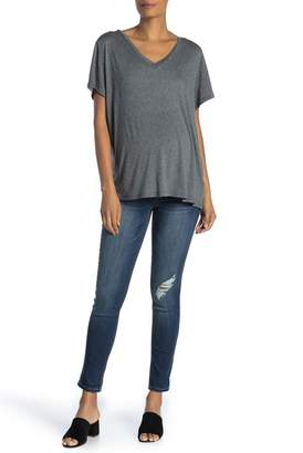1822 Denim Distressed Ankle Skinny Jeans (Maternity)