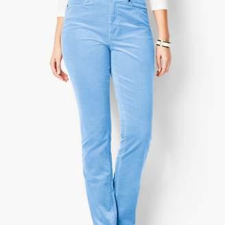 Talbots High-Rise Straight-Leg Pants - Cords/Curvy Fit