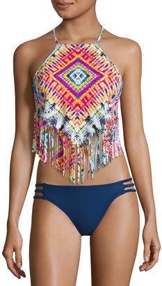 ARIZONA Arizona Pattern Tankini Swimsuit Top-Juniors $36 thestylecure.com