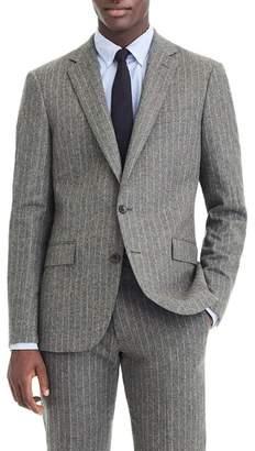 J.Crew J. Crew Ludlow Slim Fit Chalk Stripe Wool Blend Suit Jacket