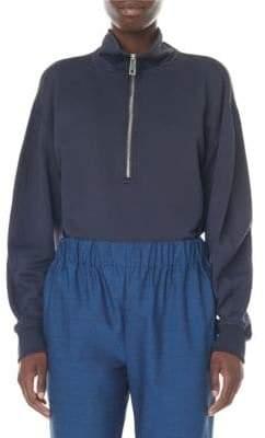 Tibi Half-Zip Sweatshirt