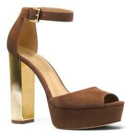 MICHAEL Michael Kors Paloma Suede Platform Dress Sandals