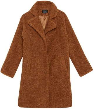 Bardot Junior Izzy Fuzzy Long Coat