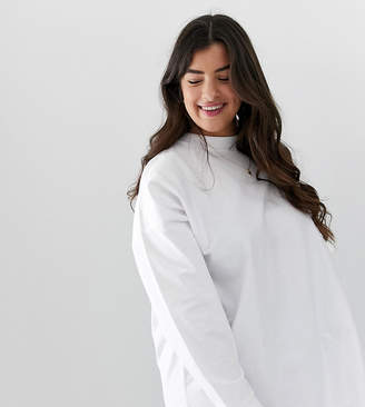 Asos DESIGN Curve super oversized lightweight sweatshirt in white