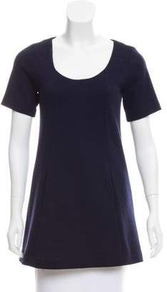 Theory Short Sleeve Wool-Blend Tunic