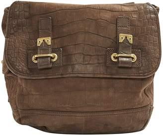 Saint Laurent Messenger Brown Leather Handbag