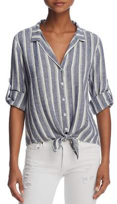 Bella Dahl Striped Tie-Front Button-Down Shirt - 100% Exclusive