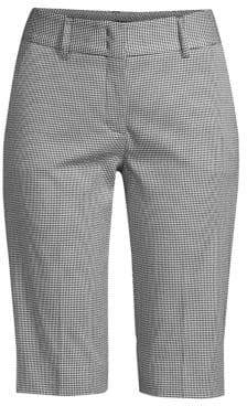 Piazza Sempione Checked Stretch Cotton Bermuda Shorts