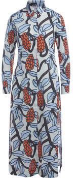 Kleider langes Kleid Creme mit Aufdruck