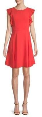 Julia Jordan Flutter-Sleeve Sheath Dress