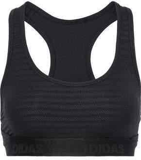 5cc26fa15aa09f adidas Cutout Jacquard-knit Sports Bra