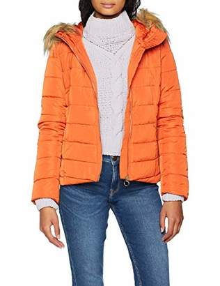 Only Women's Onlnew Ellan Quilted Fur Hood Jacket OTW