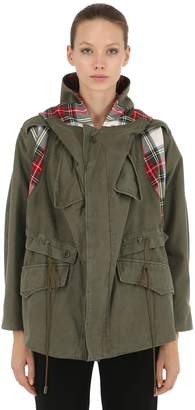 Antonio Marras Limited Check Military Cotton Parka