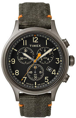 Timex BOUTIQUE Chronograph Allied Olive Fabric Strap Watch