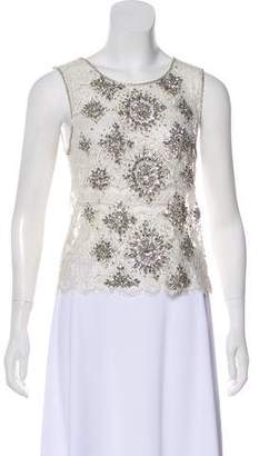 Haute Hippie Embellished Lace Blouse w/ Tags