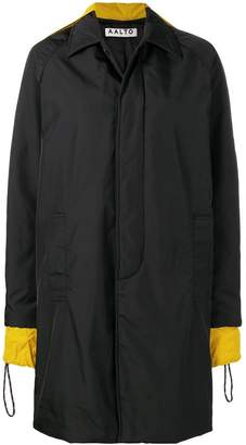 Aalto contrasting detail button coat