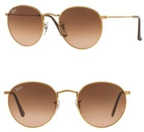 Ray-Ban Round Metal Sunglasses $165 thestylecure.com