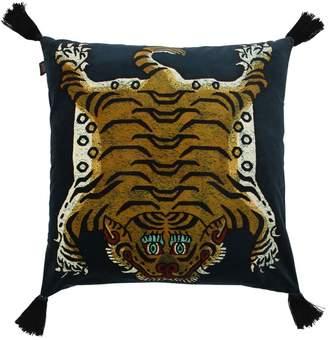 Large Saber Cotton Velvet Accent Pillow