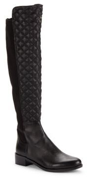 Justina Quilted Leather Boots $229 thestylecure.com
