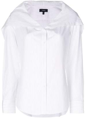 Theory striped collared shirt