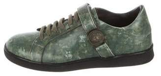 Versace Round-Toe Low-Top Sneakers w/ Tags