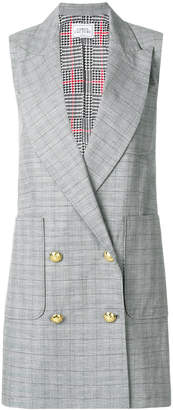 Forte Dei Marmi Couture sleeveless long double breasted jacket
