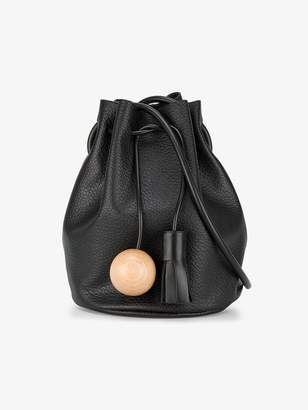 At Browns Fashion Building Block Black Sphere Tassel Leather Bucket Bag