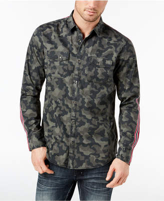 INC International Concepts I.N.C. Men's Camo Taped Shirt, Created for Macy's
