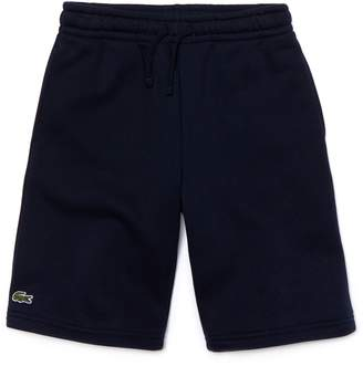 Lacoste Boys' SPORT Tennis Cotton Fleece Shorts