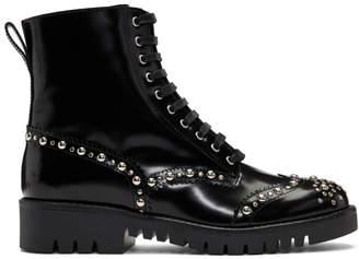 McQ Black Bess Derby Boots