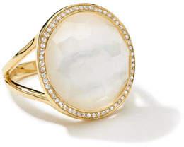 Ippolita Small Diamond-Bezel Mother-of-Pearl Lollipop Ring