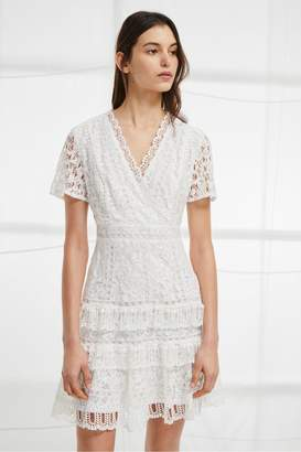 French Connection Arta Lace Ruffle Dress