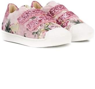 MonnaLisa floral-print sneakers