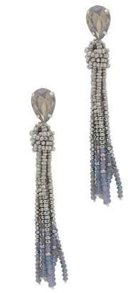 Saachi Maldives Beaded Tassel Drop Earrings