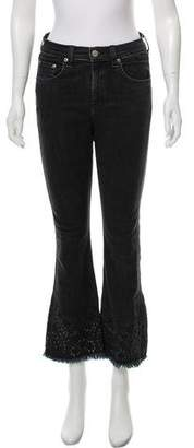 Rag & Bone Embroidered High-Rise Jeans