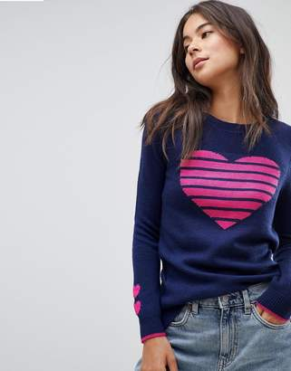 Oasis Heart Printed Sweater