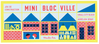 Moulin Roty Town Construction Block Game - 23 Pieces & 1 Poster