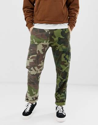 a9cdbde8f Levi s hi-ball skater tapered fit 2 camo print cargo trousers in green