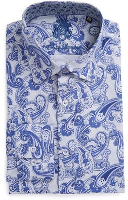 English Laundry Trim Fit Paisley Dress Shirt $98.50 thestylecure.com