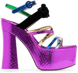 ATTICO Multicoloured Bibbi Greta platform heels