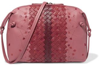 Bottega Veneta - Nodini Small Embroidered Intrecciato Leather Shoulder Bag - Pink $1,950 thestylecure.com
