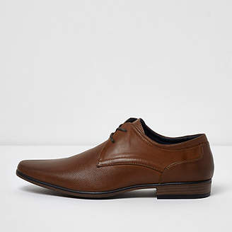 River Island Tan perforated formal shoes