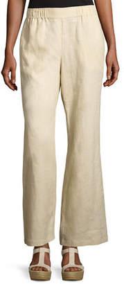 Go Silk Linen Wide-Leg Pants, Petite