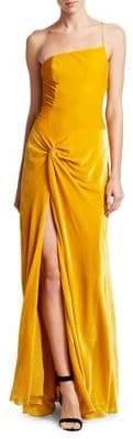 Cinq à Sept Women's Liza Velvet Slit Gown - Black - Size 6