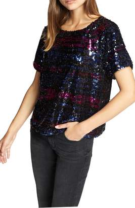 Sanctuary Saturday Night Sequin Embellished Top