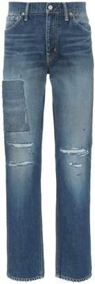 Visvim Social Sculpture distressed straight leg jeans