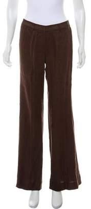 Tory Burch Linen Mid-Rise Pants