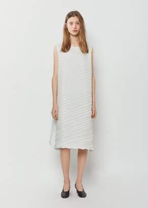 Issey Miyake Square Pleats Dress Light Gray