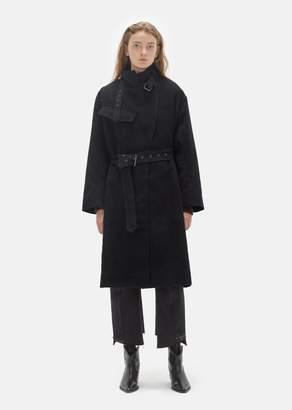 Isabel Marant Paul High Collar Trench Coat Black